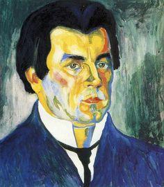 Malevich, Kazimir (1878-1935) - 1910-11 Self Portrait (The Russian Museum)