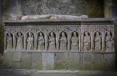 The tomb effigy of of Pierce Fitz Oge Butler at Kilcooley Abbey, County Tipperary.   The tomb dates to 1526, and depicts Pierce Butler in his armour. At his feet a small dog symbolises his faithfulness and loyalty, and ten of the twelve apostles are depicted below.   Kilcooley is a true hidden treasure! You can find out more about this site from our latest blog article http://timetravelireland.blogspot.ie/2013/09/kilcooley-abbey-county-tipperary.html