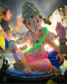 No photo description an vailable. Jai Ganesh, Ganesh Lord, Ganesh Idol, Shree Ganesh, Shri Ganesh Images, Ganesha Pictures, Clay Ganesha, Ganesha Art, Ganesh Rangoli