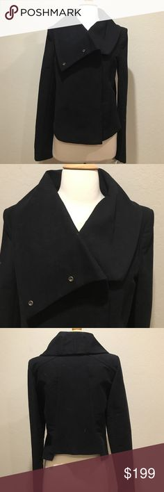 """Helmut Lang navy blue jacket NWT. High quality and constructive. Modern and sophisticated. Size M. Shoulder across 17"""". Bust 19"""". 22 """" long from shoulder to front hem. 2 pockets front. Helmut Lang Jackets & Coats"""