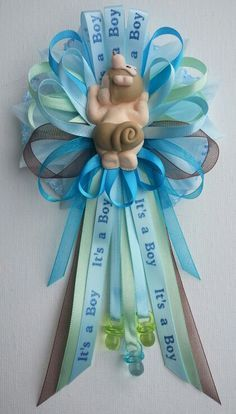 it's a boy its a girl ribbon shower corsage - Google Search