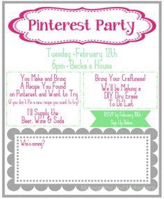 Pinterest Party invitation