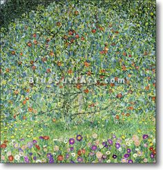Apple Tree I – Gustav Klimt Reproduction   - £124.99 : Canvas Art, Oil Painting Reproduction, Art Commission, Pop Art, Canvas Painting  #gustavklimt #oilpainting #canvasart #homedecor #decorations #art #paintings