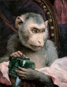 Gabriel von Max   Monkey with Book