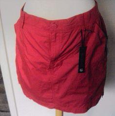 16.78$  Buy now - http://viwix.justgood.pw/vig/item.php?t=7c19tfr13733 - Gloria Vanderbilt Skort Size 16 100% Cotton Red) Strawberry Daiquiri)