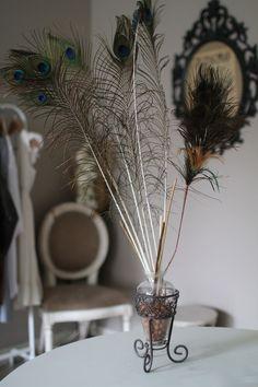 Vase + Plumes de paons