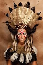 Resultado de imagen para maquillaje fantasia indigena