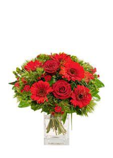 Bouquet Classique Rose Gerbera Rouge - LOVE