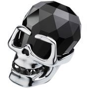 N The Skull - stunning Jet Hematite crystal sculpture by Swarovski