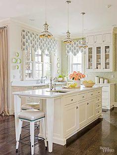 Gorgeous Kitchen With a Garden-Fresh Palette                                                                                                                                                                                 More