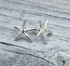 Adorable sterling silver starfish stud by jacjewelsdesigns on Etsy