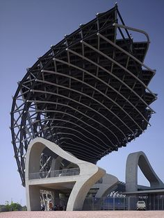 The open end of the Kaohsiung stadium by Toyo Ito – winner of the 2013 Pritzker architecture prize.    followpics.co