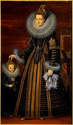 Isabelle-Claire-Eugénie, infante d'Espagne, archiduchesse d'Autriche, gouvernante générale des Pays-Bas, d'après Pourbus et Rubens