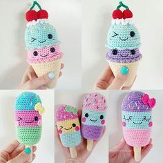 FRIDAY! I know I'll be getting some ice cream later, what about you?  (Crochet patterns in English and Swedish in my shop, link in bio)