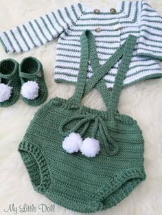 Baby Girl Crochet, Crochet For Boys, Newborn Crochet, Knitted Baby Clothes, Crochet Clothes, Baby Knitting Patterns, Crochet Patterns, Baby Patterns, Overall