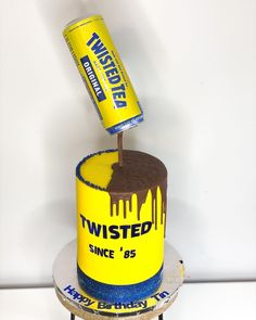 "𝐐𝐮𝐚'𝐓𝐞𝐬𝐡𝐚 𝐅𝐞𝐥𝐝𝐞𝐫•𝗖𝗮𝗸𝗲 𝗗𝗲𝘀𝗶𝗴𝗻𝗲𝗿 on Instagram: ""𝗧𝗪𝗜𝗦𝗧𝗘𝗗 𝗧𝗘𝗔 𝗖𝗮𝗸𝗲 𝗯𝘂𝘁 𝗺𝗮𝗸𝗲 𝗶𝘁 𝗴𝗿𝗮𝘃𝗶𝘁𝘆 𝗱𝗲𝗳𝘆𝗶𝗻𝗴 🤪 : : @twistedtea : : : : : : : : : : : : : : : : #twistedteacake #gravitydefyingcake…"" Twisted Tea, Gravity Defying Cake, Tea Cakes, Custom Cakes, Couple Goals, Cake Decorating, Birthday Cake, Treats, Desserts"