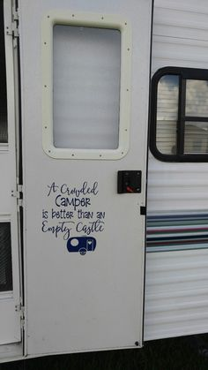 Prodigious Camper Door Ideas, When you go to measure your camper you're going to measure from end to finish. Ever since your camper might be such a sizable investment, you need to . Camping Hacks, Camping Signs, Camping Humor, Camping Glamping, Camping Ideas, Rv Hacks, Funny Camping, Camping Checklist, Camping List