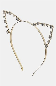 Topshop 'Cat Ears' Metal Headband available at #Nordstrom