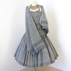 vintage 1950's dress ...ethereal NARDIS of DALLAS light by traven7