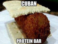Galletica con croqueta !! Cubans be like .