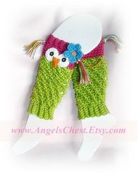 Owl Leggins-they'd make cute fingerless mitts