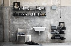 Nordic Love {modular design} - 3 brand per 3 stili Bad Inspiration, Bathroom Inspiration, Interior Exterior, Interior Design, Gray Interior, Interior Architecture, Regal Bad, Floor Design, House Design