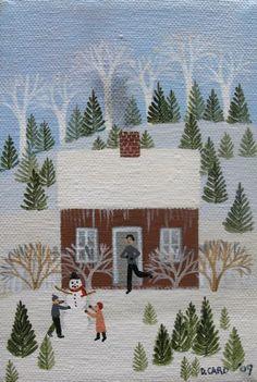 Building a Snowman Diana Card Christmas Truck, Christmas Art, Kitsch, Christmas Decoupage, Edouard Vuillard, Retro Images, Country Art, Winter Pictures, Winter Art
