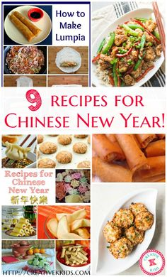 9 different recipes for Chinese New Year or any time you want Asian food!