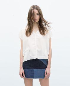 V-NECK T-SHIRT-View all-T-shirts-WOMAN | ZARA United States