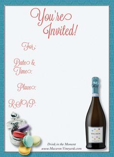 Download free party invitation printables from Macaron Vineyards