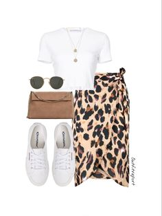 Diy Summer Clothes, Summer Outfits, Teen Fashion Outfits, Look Fashion, White Converse Outfits, Cute Casual Outfits, Polyvore Outfits, Skirt Outfits, Aesthetic Clothes