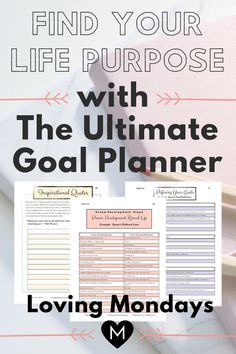 This goal planner will help you discover your life purpose. Getting clear on your life purpose puts you on the right track towards creating your ideal life. This goal planner allows you to do just that. Grab yours and start creating your ideal life today! Goals Planner, Life Planner, Happy Planner, Goal Journal, Journal Ideas, How To Move Forward, Moving Forward, Coping Skills, Life Skills