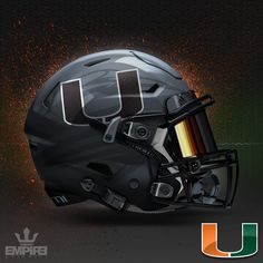 I don't always make mistakes, but when I do, I fix them. Had a few people point out that Miami is under contract with Adidas not Nike. Custom Football, Nfl Football Teams, Football Is Life, Clemson Football, Football Memes, Cool Football Helmets, Football Helmet Design, College Football Uniforms, University Of Miami Hurricanes