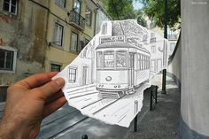 Pencil vs. Camera: sketching + photography, amazing work by Ben Heine