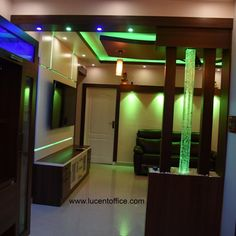 One of our beauty. Living Room Partition Design, Living Room Tv Unit Designs, Room Partition Designs, Room Door Design, Door Design Interior, Interior Design Living Room, Wood Partition, Pop Ceiling Design, Tv Wall Design