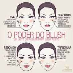 Aplicação certa do #blush de acordo com o formato do rosto: http://guiame.com.br/vida-estilo/moda-e-beleza/aplicacao-certa-do-blush-de-acordo-com-o-formato-do-rosto.html#.VQwOOjTF-8h