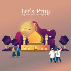 Flat illustration for ramadan or islamic prayer Vector . Ramadan Gif, Ramadan Prayer, Islamic Art Pattern, Pattern Art, Poster Ramadhan, Islamic Art Canvas, Wallpaper Ramadhan, Eid Mubarak Wallpaper, Eid Mubarak Card