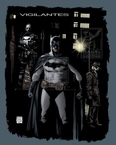 Batman, The Punisher & Rorschach by Nathan Milliner