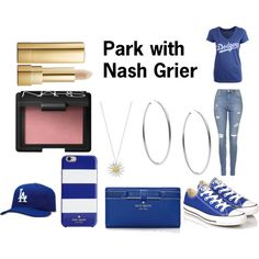 park // n.g. by xokyranoel on Polyvore featuring '47 Brand, Topshop, Converse, Kate Spade, Michael Kors, Daisy Jewellery, NARS Cosmetics, Dolce&Gabbana and Guide London