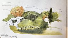 Drawn in Yorkshire – The online home of John Harrison, artist: purveyor of line drawings with watercolour Landscape Sketch, Landscape Drawings, Watercolor Landscape, Landscape Art, Landscape Paintings, Landscapes, Watercolor Journal, Pen And Watercolor, Watercolor Paintings