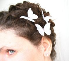 silk butterfly hair clips