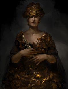 Baroque by anna-lakisova female queen princess royalty assassin dagger armor clothes clothing fashion player character npc | Create your own roleplaying game material w/ RPG Bard: www.rpgbard.com | Writing inspiration for Dungeons and Dragons DND D&D Pathfinder PFRPG Warhammer 40k Star Wars Shadowrun Call of Cthulhu Lord of the Rings LoTR + d20 fantasy science fiction scifi horror design | Not Trusty Sword art: click artwork for source