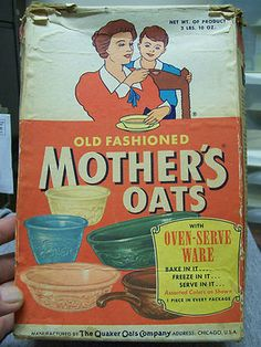 MOTHER'S OATS, with add for Fiesta style dishes, full of recipes, Ca. 1950's