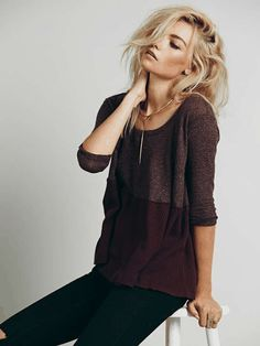 Free People | We The Free Half and Half Thermal #freepeople #sweater
