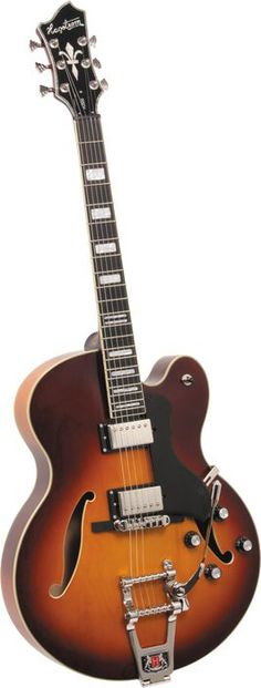 Hagstrom HJ-500 Tremar Electric Guitar Vintage Sunburst
