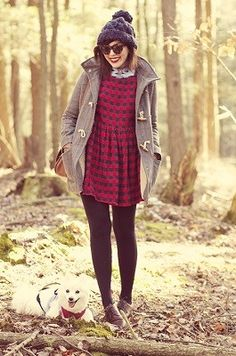 How to wear skirts and dresses in the winter