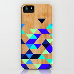 Geometric Blue Polygons iPhone & iPod Case