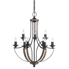 This Corbeille five-light chandelier offers a fun, casual twist on a classic…