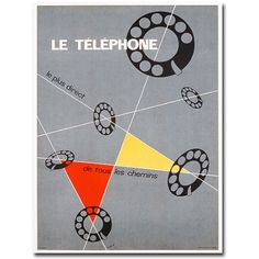 Trademark Art Le Telephone, 1937 inch Canvas Wall Art by Choi, Size: 35 x 47, Multicolor