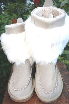 Rampage Westie Tan Suede Leather Fur Boots Women Shoe 7 #Rampage #MidCalfBoots